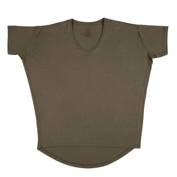 Olive Dolman Adult T-Shirt - Extra Small
