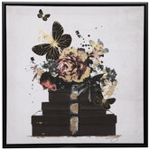 Butterflies, Flowers & Boxes Canvas Wall Decor