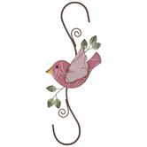 Bird & Leaves Metal Wall Decor