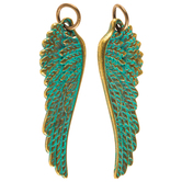Patina Wing Charms