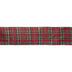 Metallic Red & Green Plaid Wired Edge Ribbon - 2 1/2