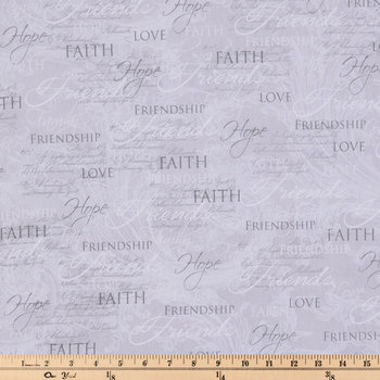 Slate Friend Print Cotton Calico Fabric