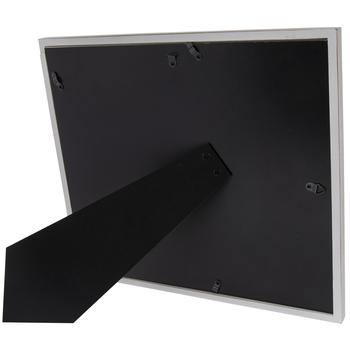 Distressed White Slatted Wood Frame