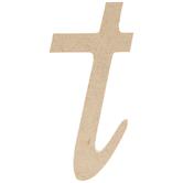 Lowercase Script Wood Letter - T