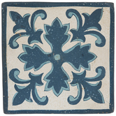 Blue & Cream Rustic Tile Wall Decor