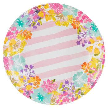 Watercolor Floral Paper Plates