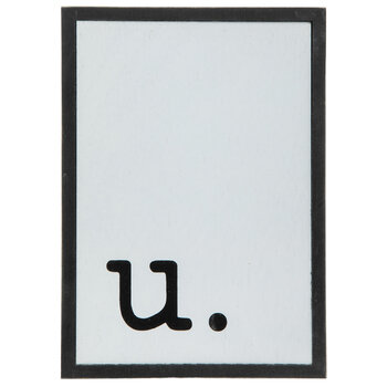 Lowercase Letter Wood Wall Decor - U