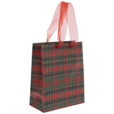 Red & Green Plaid Gift Bag