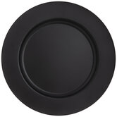 Matte Black Metal Plate Charger