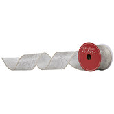 """Gold & Blue Glitter Ombre Wired Edge Sheer Ribbon - 2 1/2"""""""