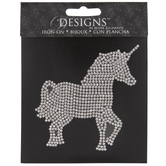 Unicorn Rhinestone Iron-On Applique