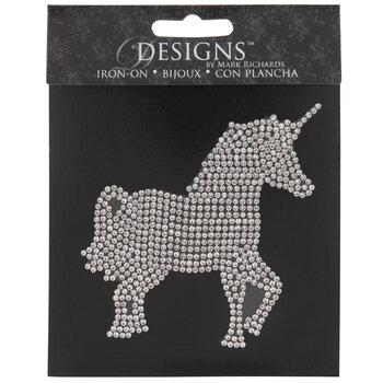 Unicorn Rhinestone Iron-On Applique