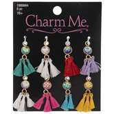 Mermaid Rhinestone Charms With Tassels