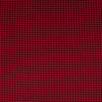 Red & Black Gingham Fabric