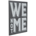 We Not Me Wood Wall Decor