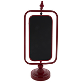 Red Rotating Chalkboard Metal Decor