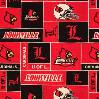 Louisville Block Collegiate Fleece Fabric
