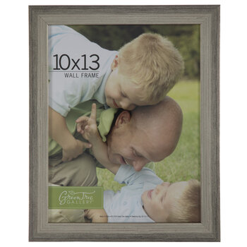 Silver Flat Brushed Wood Wall Frame