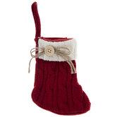 Knit Stocking Gift Card Holder
