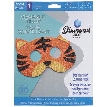 Sparkle Tiger Mask Diamond Art Kit