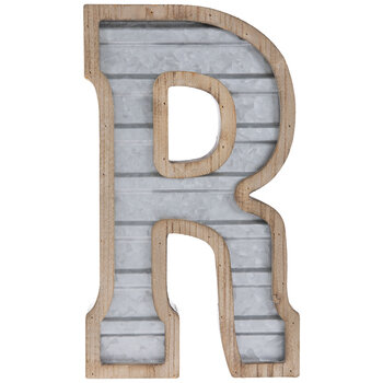 Galvanized Metal Letter Wall Decor - R