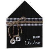 Merry Christmas Jingle Bells Wood Decor