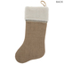 Burlap Stocking With Sherpa Cuff