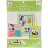 """Colorfast Sew-In Inkjet Fabric Sheets - 8 1/2"""" x 11"""""""