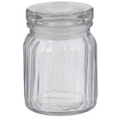 Ridged Glass Jar