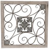 Floral Swirl Metal Wall Decor