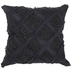 Charcoal Gray Jacquard Pillow Cover