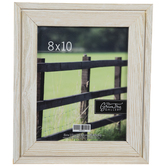 "White Distressed Wood Wall Frame - 8"" x 10"""