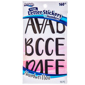 Black Handwritten Letter & Number Stickers