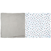 Triangles Muslin Baby Blankets