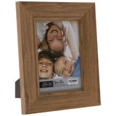 Brown Angled Wood Look Frame