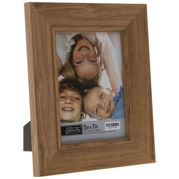 Brown Angled Wood Look Frame