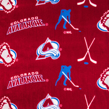 NHL Colorado Avalanche Allover Fleece Fabric