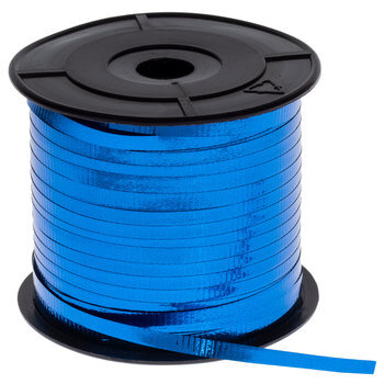 "Royal Blue Metallic Curling Ribbon - 3/16"""