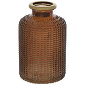 Herringbone Glass Vase