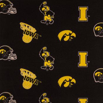 Iowa Allover Collegiate Fleece Fabric