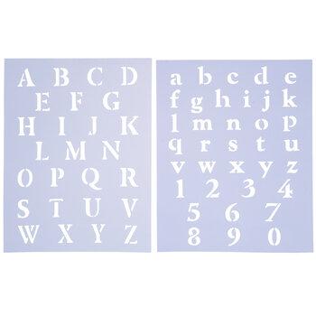 Roman Alphabet & Number Stencil