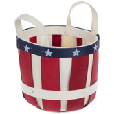 Red, White & Blue Wood Container