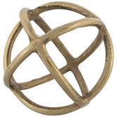 Rings Metal Decorative Sphere