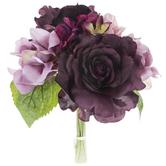 Dark Purple Mix Rose & Hydrangea Bouquet
