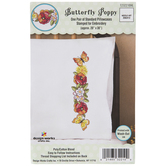 Butterfly Poppy Cross Stitch Pillowcases Kit