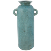 Distressed Teal Vase