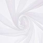 White Poly Chiffon Fabric