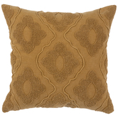 Mustard Tufted Trellis Pillow Cover