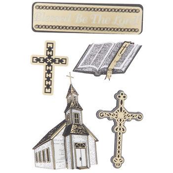 Church & Cross 3D Stickers