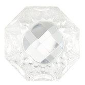 Etched Back Glass Knob
